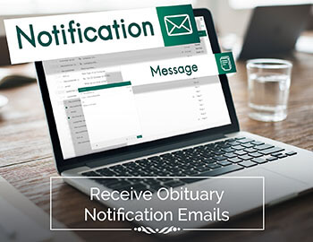 Obituary Notification Email